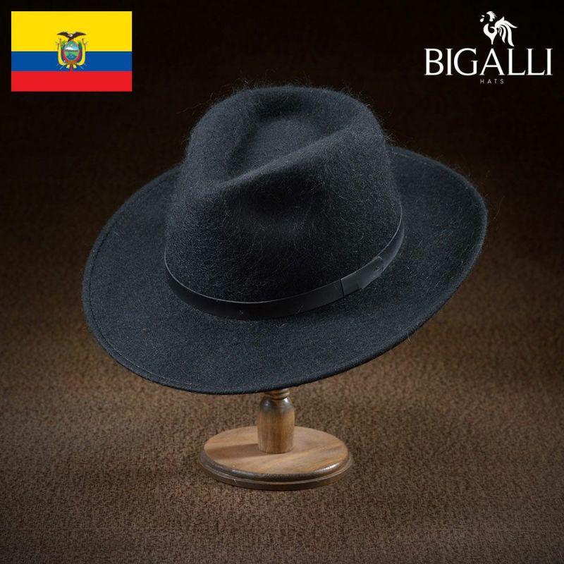 帽子 フェルトハット BIGALLI(ビガリ) MOHAIR PERRITO(モヘヤ ペリート)ブラック