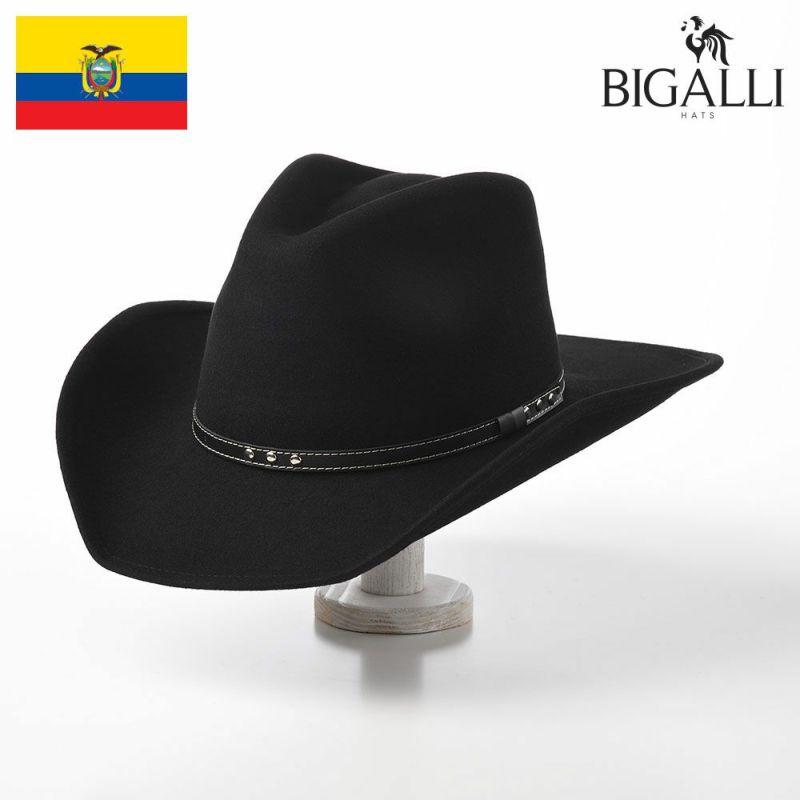 帽子 フェルトハット BIGALLI(ビガリ) MARTIN(マルティン)ブラック