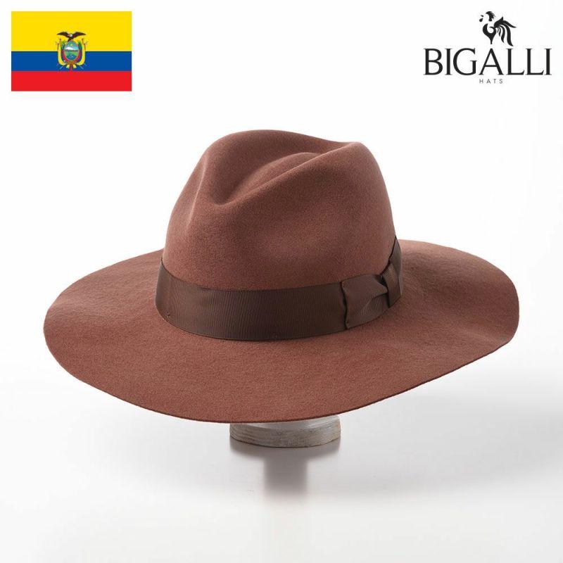 帽子 フェルトハット BIGALLI(ビガリ) ZOEY(ゾーイ)アンバーブラウン