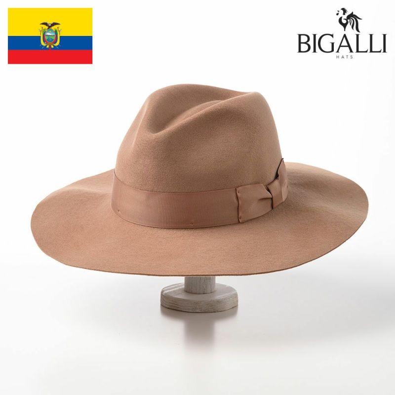 帽子 フェルトハット BIGALLI(ビガリ) ZOEY(ゾーイ)キャラメル