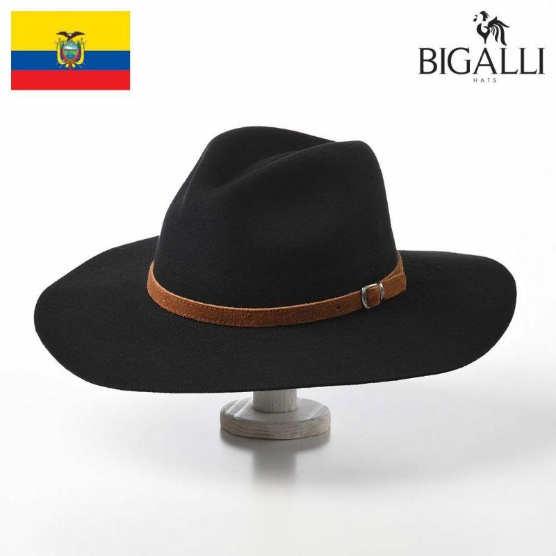 帽子 フェルトハット BIGALLI(ビガリ) SOPHIE(ソフィ)ブラック