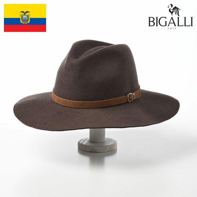 帽子 フェルトハット BIGALLI(ビガリ) SOPHIE(ソフィ)タバコ