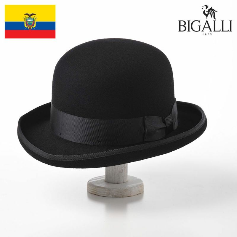 帽子 フェルトハット BIGALLI(ビガリ) BOWLER FULLY(ボウラー フリー)ブラック