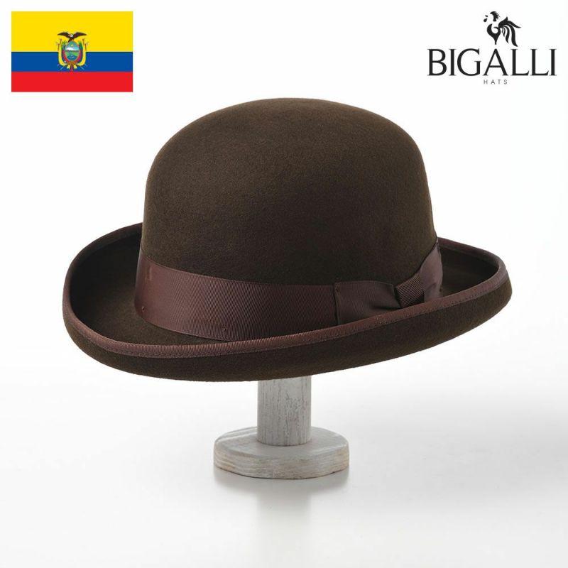 帽子 フェルトハット BIGALLI(ビガリ) BOWLER FULLY(ボウラー フリー)チョコレート