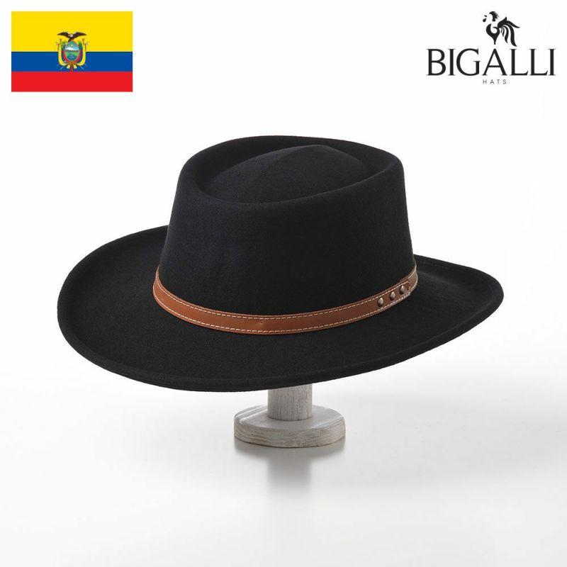 帽子 フェルトハット BIGALLI(ビガリ) GAMBLER WOOL(ガンブレール ウール)ブラック
