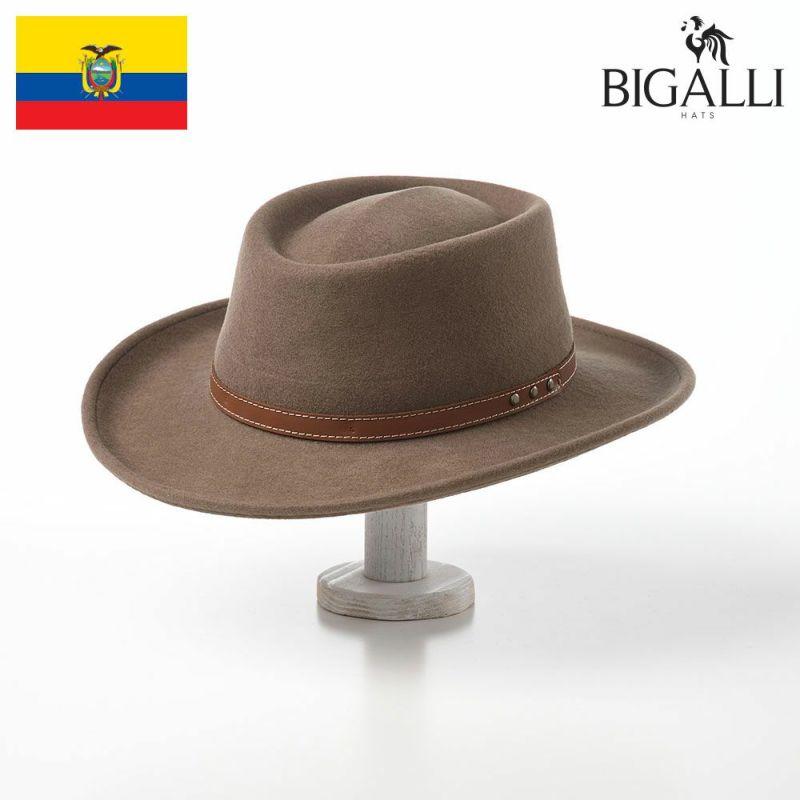 帽子 フェルトハット BIGALLI(ビガリ) GAMBLER WOOL(ガンブレール ウール)カーキ