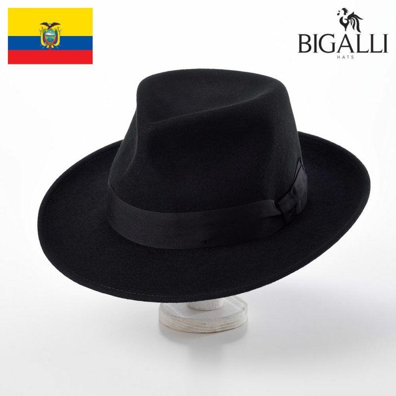帽子 フェルトハット BIGALLI(ビガリ) HUGH(ヒュー)ブラック
