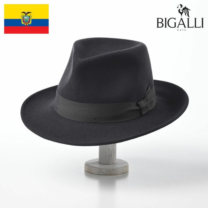 帽子 フェルトハット BIGALLI(ビガリ) HUGH(ヒュー)ダークグレー