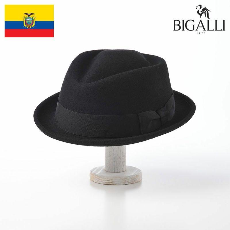 帽子 フェルトハット BIGALLI(ビガリ) DIAMOND STINGY(ダイヤモンド スティンギー)ブラック