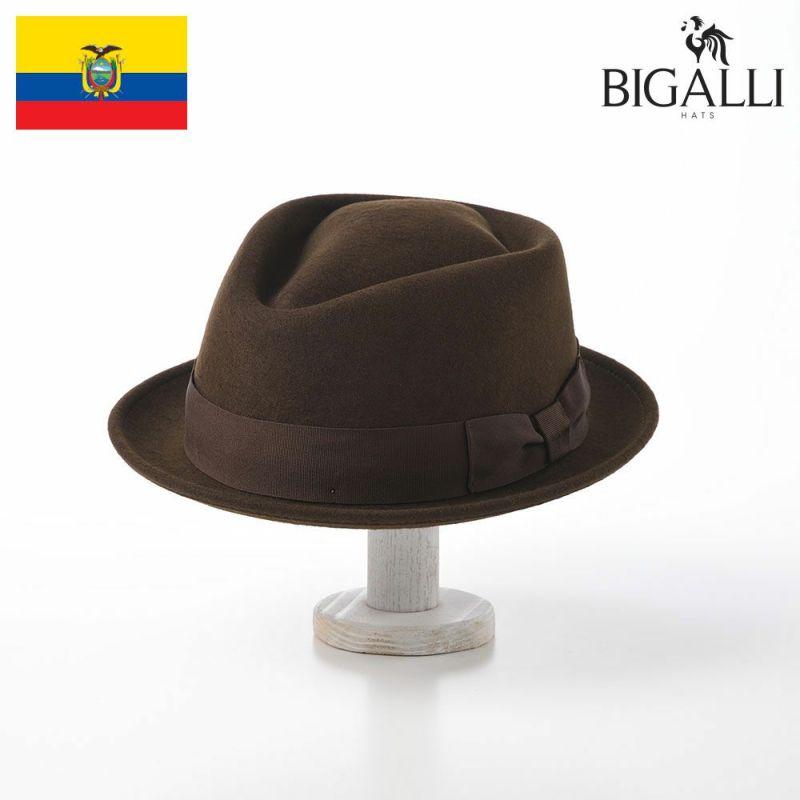帽子 フェルトハット BIGALLI(ビガリ) DIAMOND STINGY(ダイヤモンド スティンギー)チョコレート
