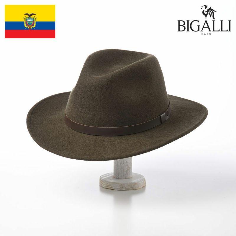 帽子 フェルトハット BIGALLI(ビガリ) SALVADOR(サルバドール)モスグリーン