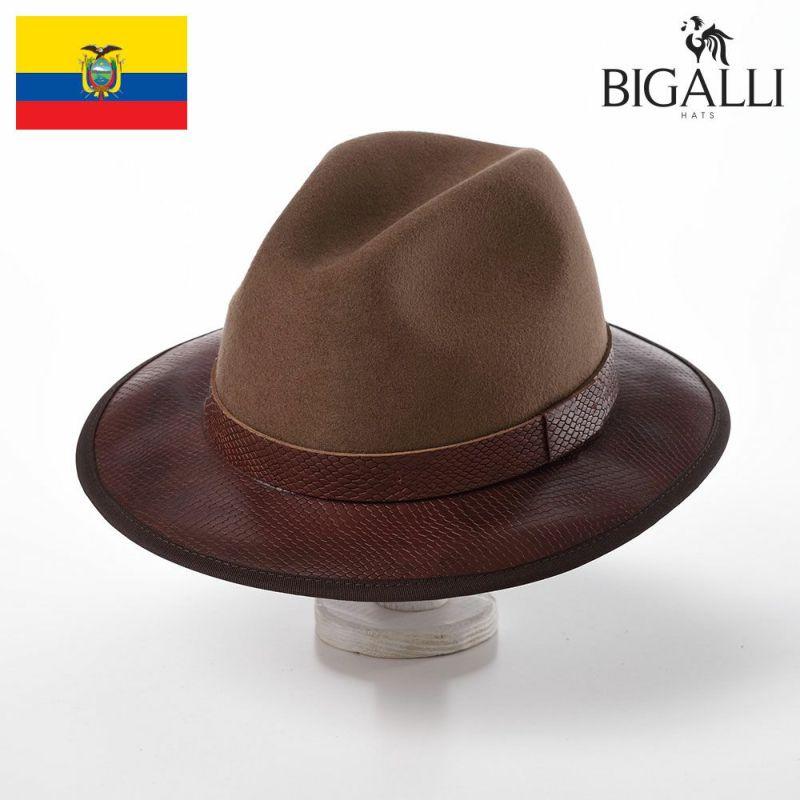 帽子 フェルトハット BIGALLI(ビガリ) RHEA(リア)ブラウン