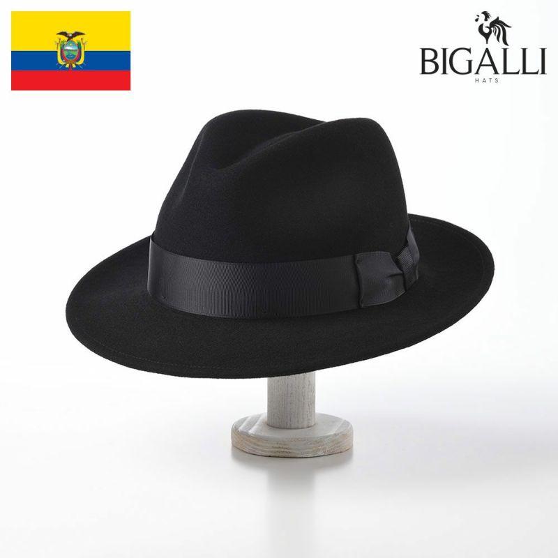 帽子 フェルトハット BIGALLI(ビガリ) ANDY(アンディ)ブラック
