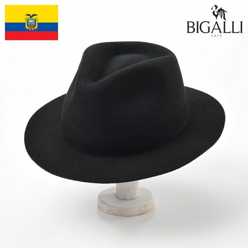 帽子 フェルトハット BIGALLI(ビガリ) ROMA FLAT(ローマフラット)ブラック
