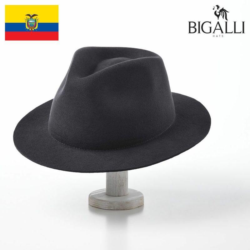 帽子 フェルトハット BIGALLI(ビガリ) ROMA FLAT(ローマフラット)ダークグレー