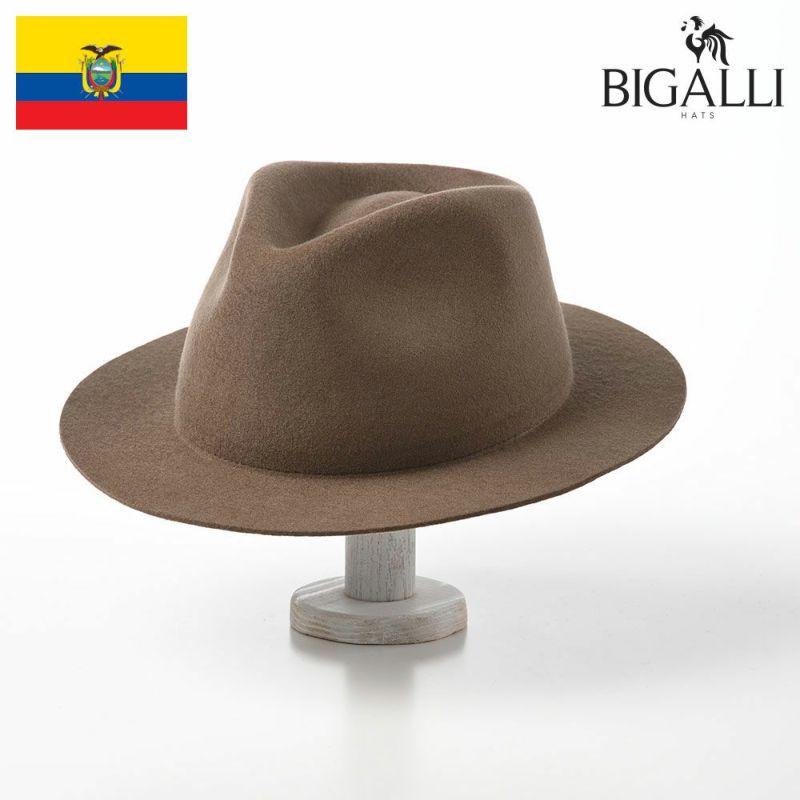 帽子 フェルトハット BIGALLI(ビガリ) ROMA FLAT(ローマフラット)カーキ