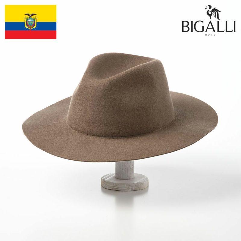 帽子 フェルトハット BIGALLI(ビガリ) DISCOVERY FLAT(ディスカバリーフラット)カーキ