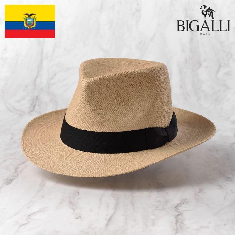 帽子 パナマハット BIGALLI(ビガリ) DENZEL(デンゼル)ベージュ