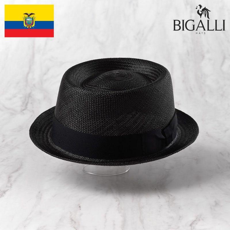 帽子 パナマハット BIGALLI(ビガリ) REDONDO(レドンド)ブラック