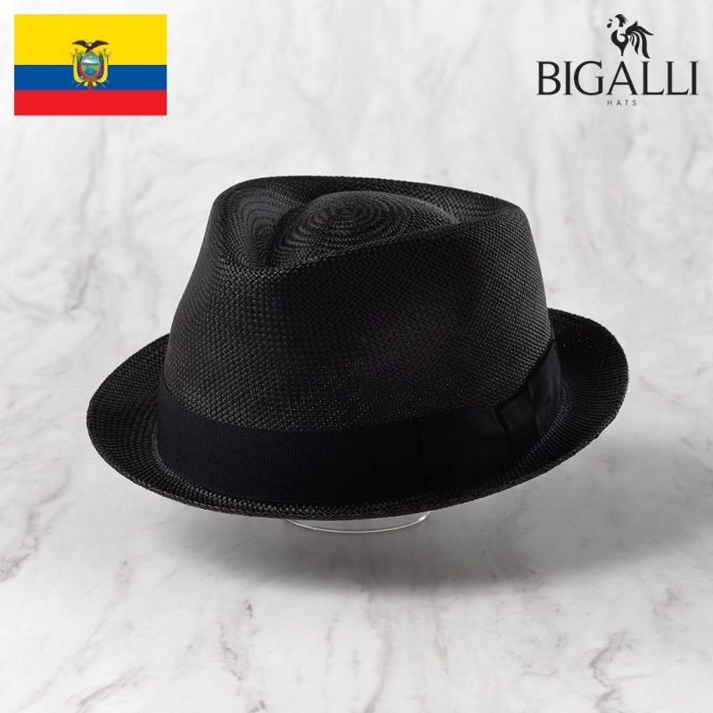 帽子 パナマハット BIGALLI(ビガリ) BOSTON(ボストン)ブラック