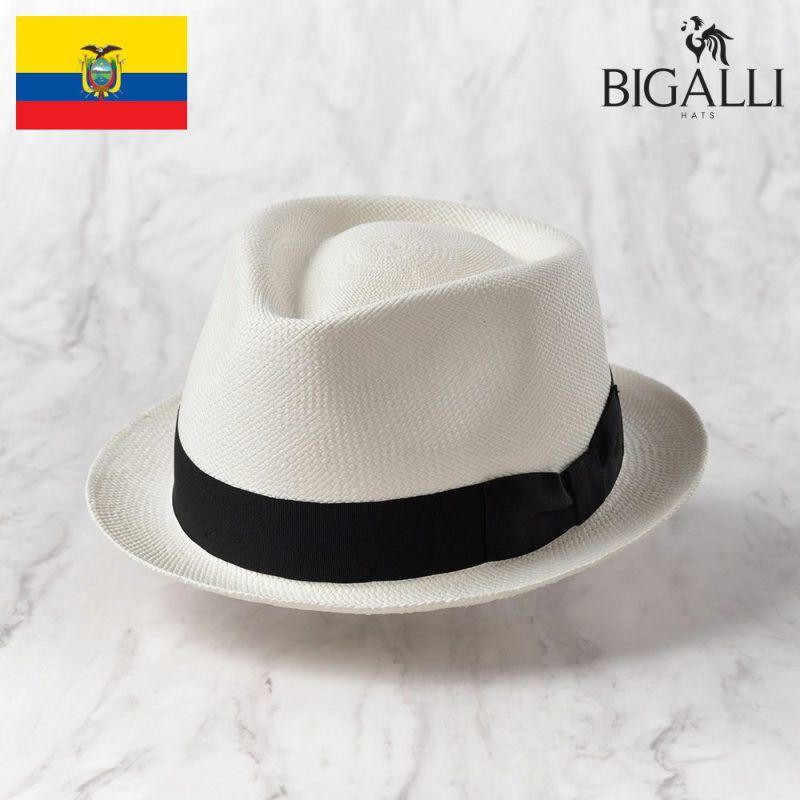帽子 パナマハット BIGALLI(ビガリ) BOSTON(ボストン)ホワイト