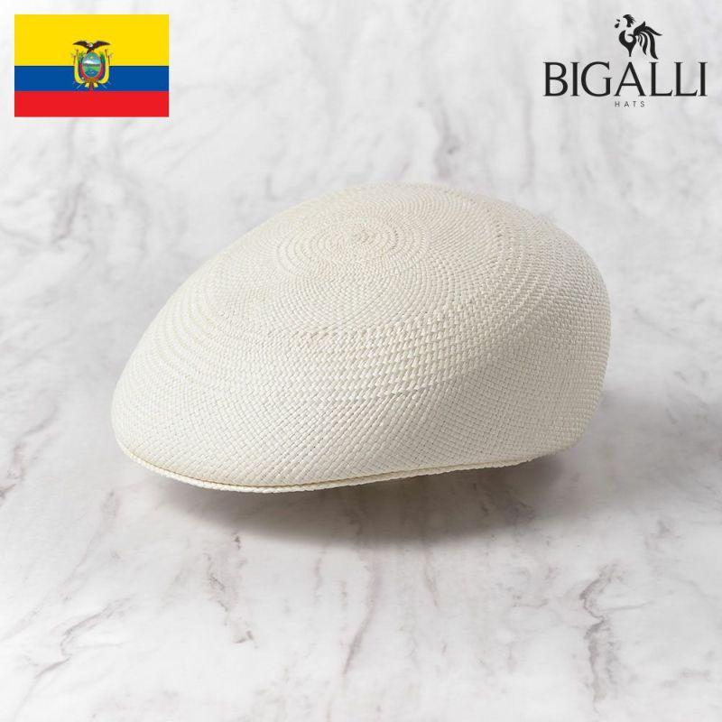 帽子 パナマハット BIGALLI(ビガリ) ASCOT(アスコット)ホワイト