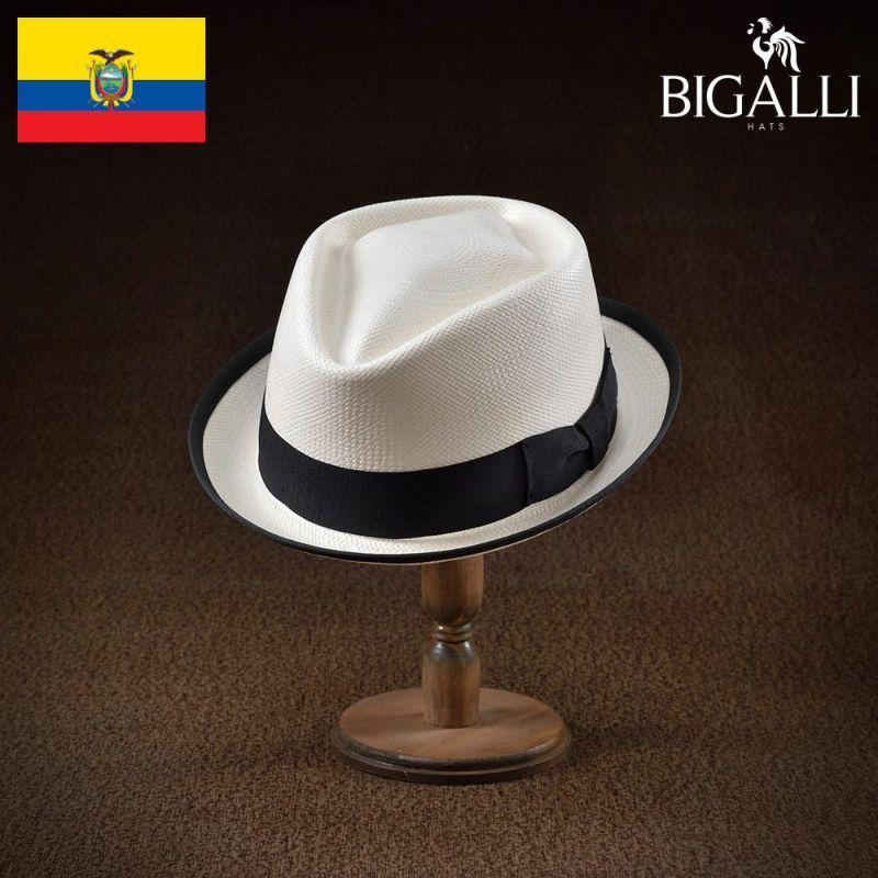 帽子 パナマハット BIGALLI(ビガリ) RECIENTE(レシエンテ)ホワイト