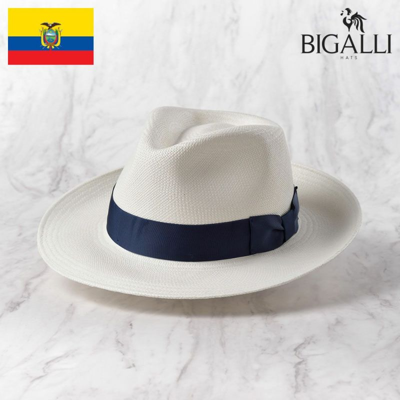 帽子 パナマハット BIGALLI(ビガリ) SANTORINI(サントリーニ)ホワイト