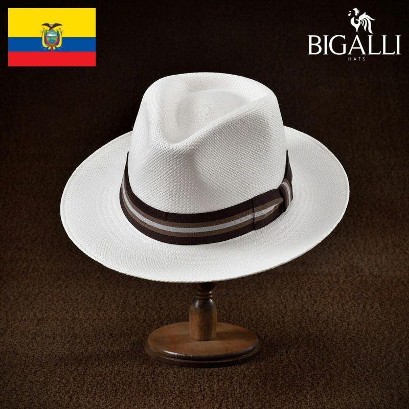 帽子 パナマハット BIGALLI(ビガリ) JULIETTE(ジュリエット)ホワイト