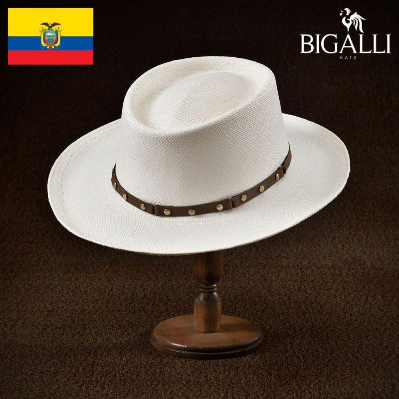 帽子 パナマハット BIGALLI(ビガリ) GAMBLER(ガンブレール)ホワイト