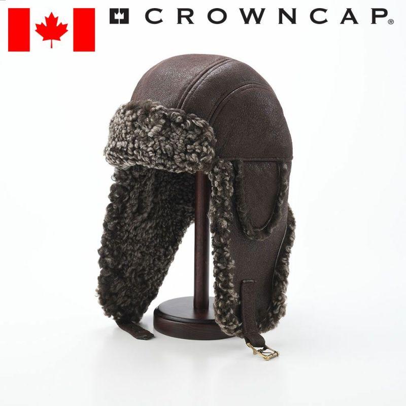 帽子 飛行帽 CROWNCAP(クラウンキャップ) JONES(ジョーンズ)ブラウン