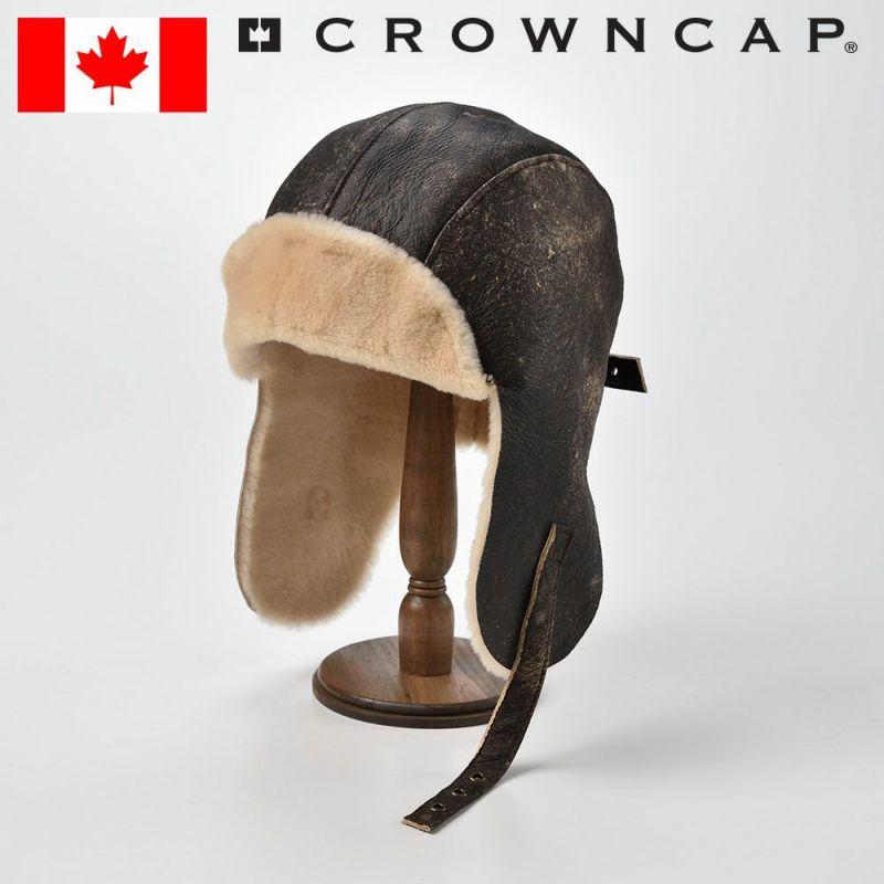 帽子 飛行帽 CROWNCAP(クラウンキャップ) Vintage DblFace Shearling(ビンテージ ダブルフェイス シェアリング)ブラック