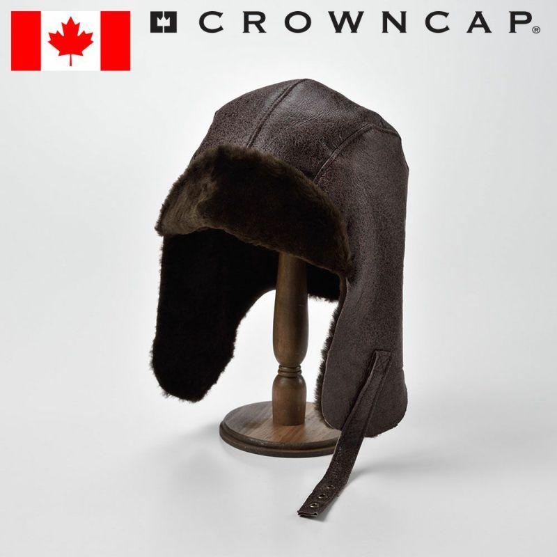 帽子 飛行帽 CROWNCAP(クラウンキャップ) Vintage DblFace Shearling(ビンテージ ダブルフェイス シェアリング)ブラウン