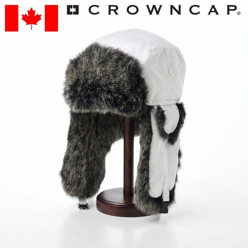 帽子 飛行帽 CROWNCAP(クラウンキャップ) Aviator Down(アビエーター ダウン)ホワイト