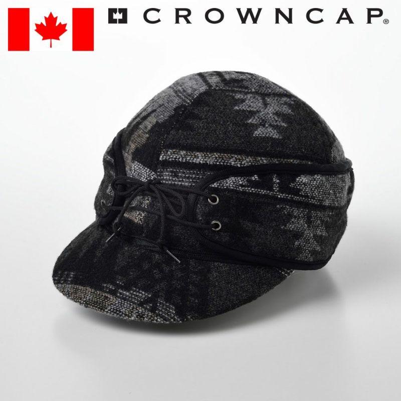 帽子 キャップ CROWNCAP(クラウンキャップ) Casual Railroad Cap(カジュアル レールロードキャップ)チャコールミックス