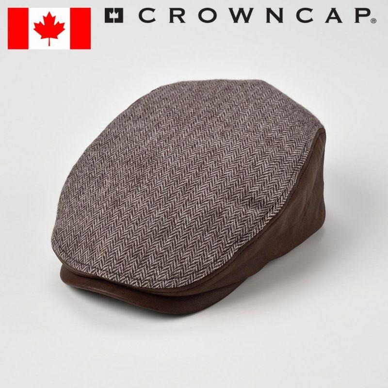 帽子 ハンチング CROWNCAP(クラウンキャップ) Herringbone Ivy cap(ヘリンボーン アイビー キャップ)ブラウン