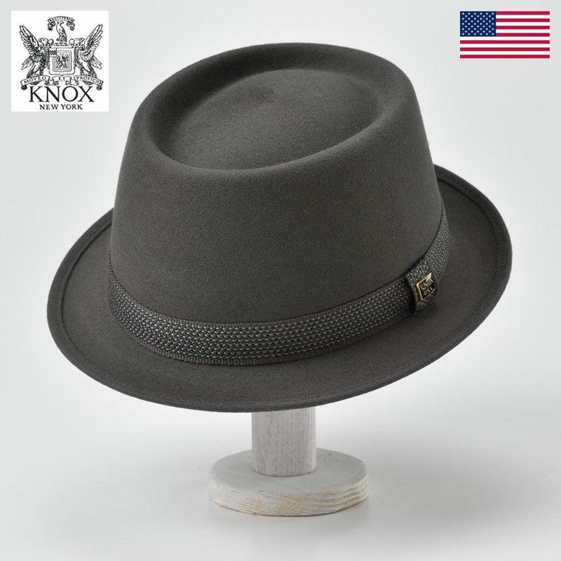 帽子 フェルトハット KNOX(ノックス) Rabbit Fur Felt Hat(ラビットファー フェルト ハット)KFSP ダークグレー