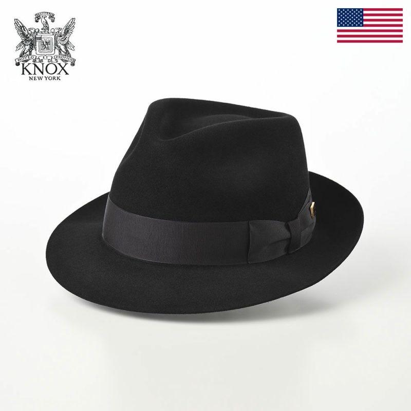 帽子 フェルトハット KNOX(ノックス) Rabbit Fur Fedora Hat(ラビットファー フェドラハット)KMC ブラック