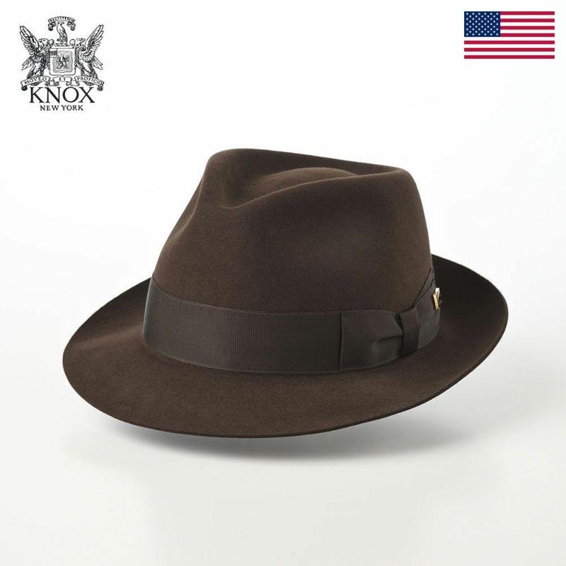 帽子 フェルトハット KNOX(ノックス) Rabbit Fur Fedora Hat(ラビットファー フェドラハット)KMC ブラウン