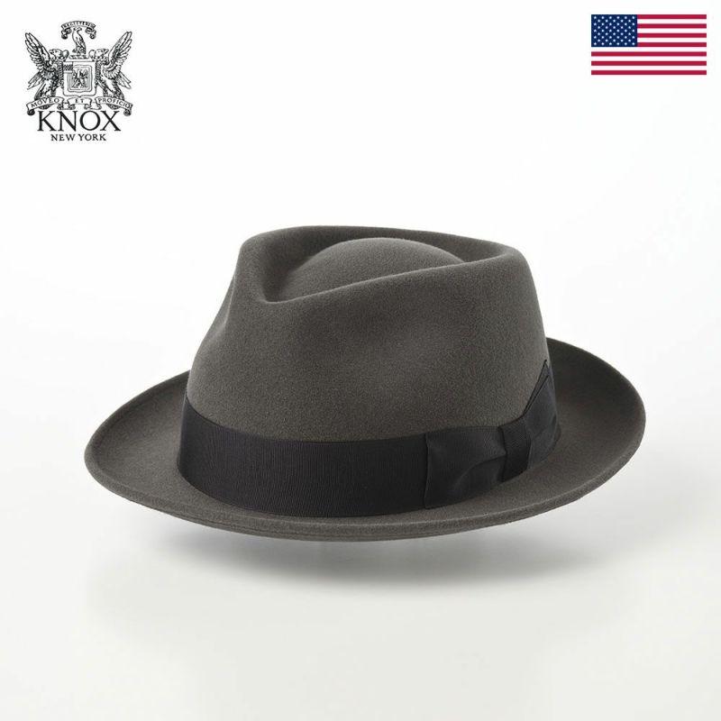 帽子 フェルトハット KNOX(ノックス) Rabbit Fur Trilby Hat(ラビットファー トリルビーハット)KPK ダークグレー