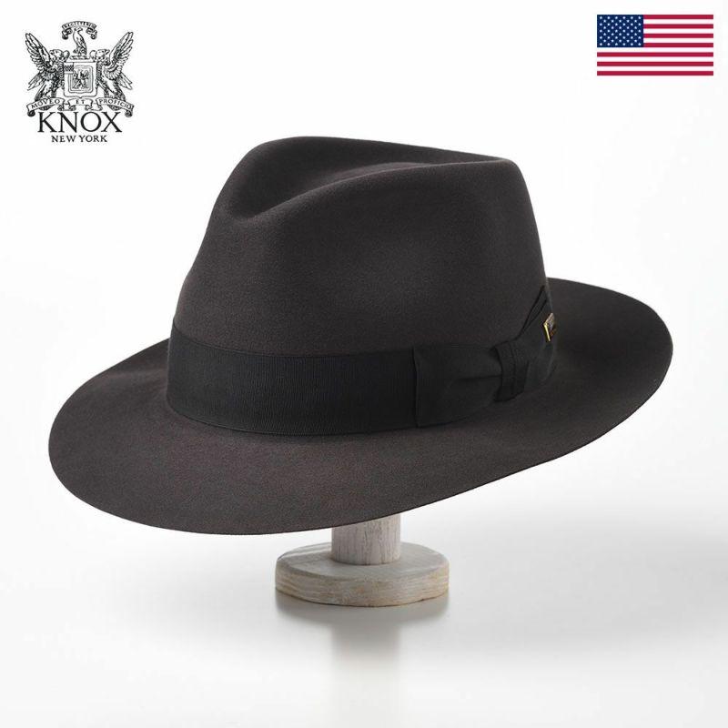 帽子 フェルトハット KNOX(ノックス) Beaver Felt Hat(ビーバー フェルトハット)KMCB ダークグレー