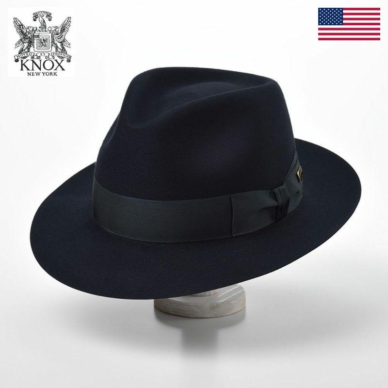 帽子 フェルトハット KNOX(ノックス) Beaver Felt Hat(ビーバー フェルトハット)KMCB ネイビー