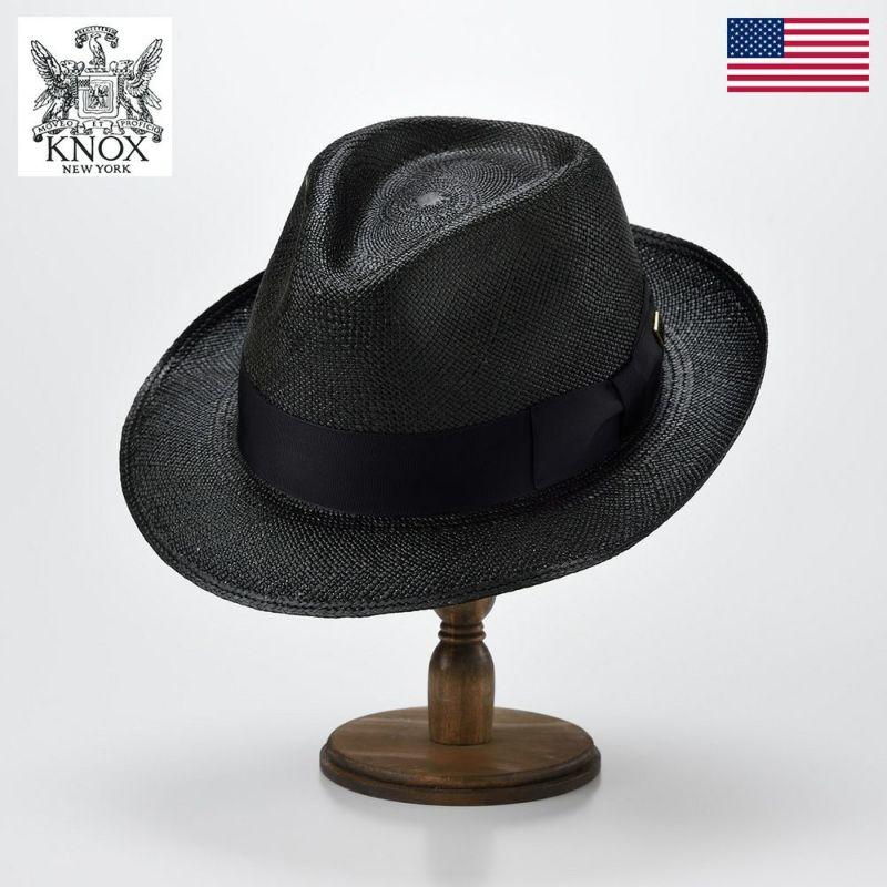 帽子 パナマ ハット KNOX(ノックス) Panama Hat(パナマ ハット)KSZ ブラック