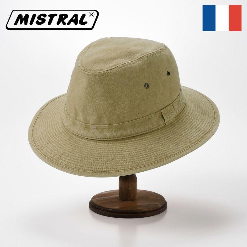 帽子 ソフトハット Mistral(ミストラル) COTTON MANISH HAT(コットン マニッシュ ハット)MI1801 ベージュ