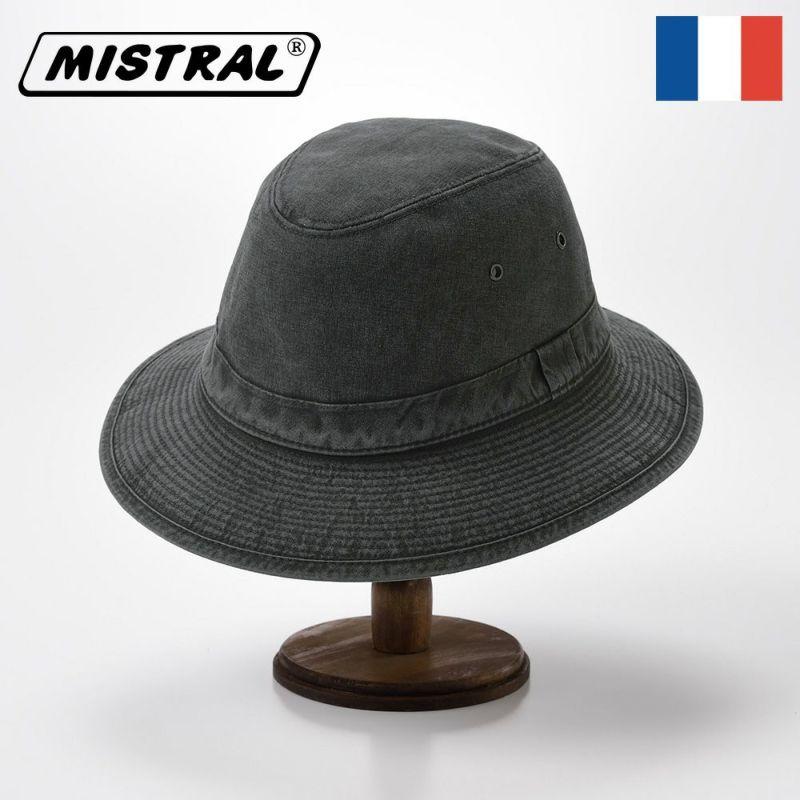 帽子 ソフトハット Mistral(ミストラル) COTTON MANISH HAT(コットン マニッシュ ハット)MI1801 ブラック