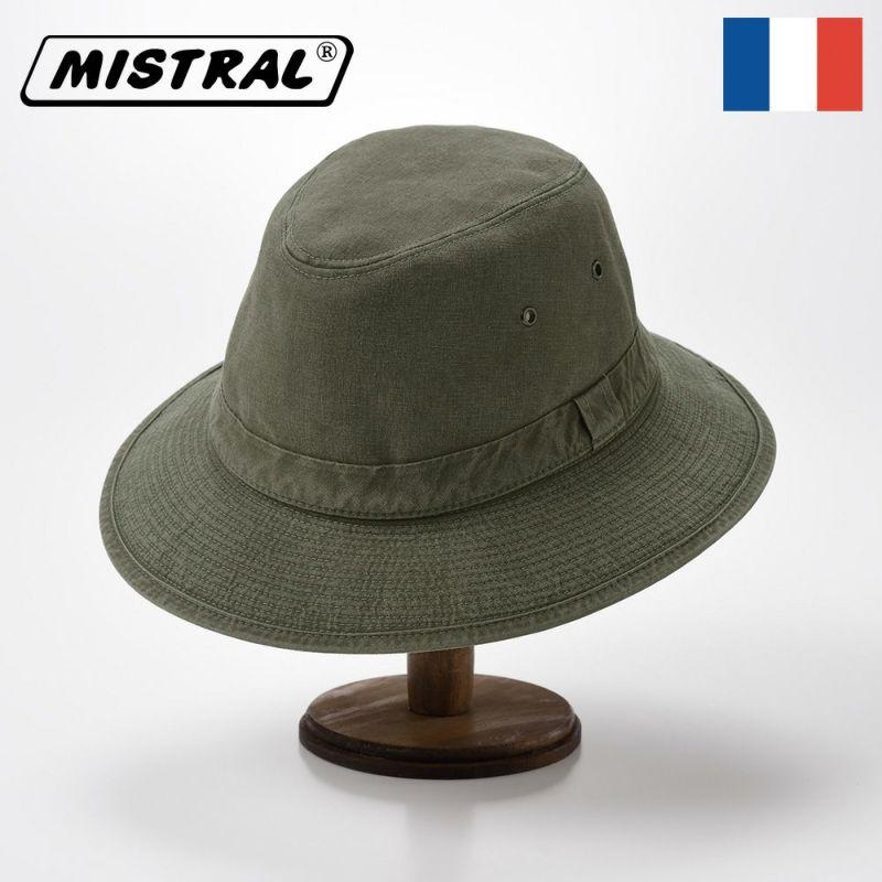 帽子 ソフトハット Mistral(ミストラル) COTTON MANISH HAT(コットン マニッシュ ハット)MI1801 カーキ
