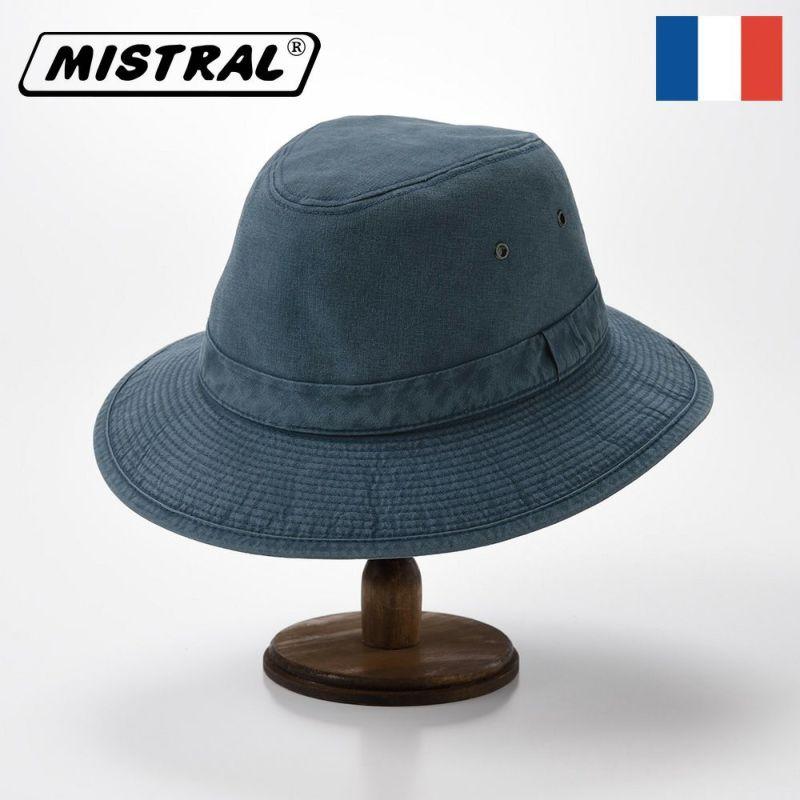帽子 ソフトハット Mistral(ミストラル) COTTON MANISH HAT(コットン マニッシュ ハット)MI1801 ネイビー