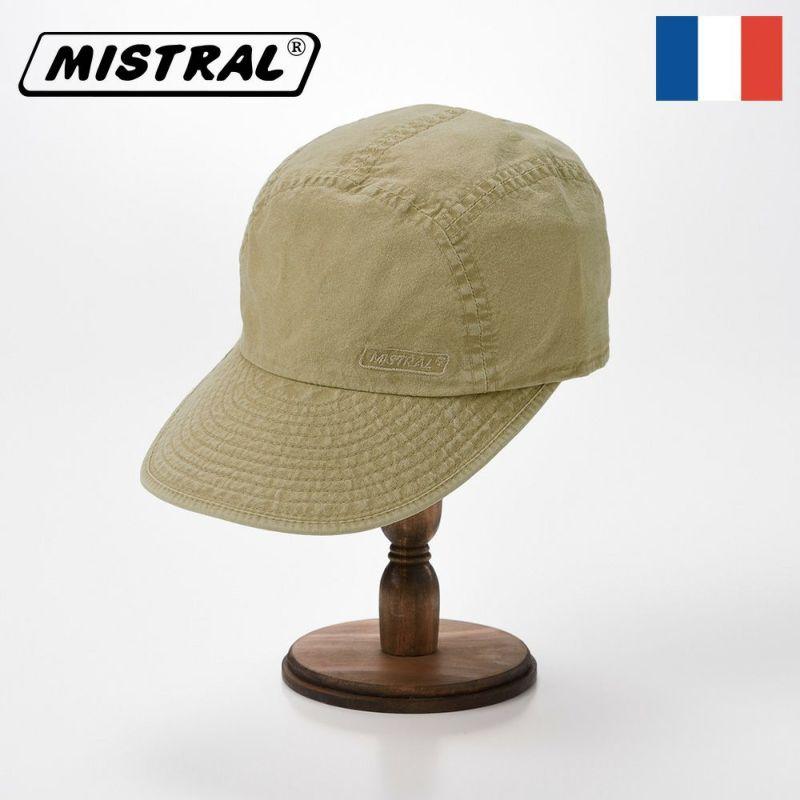 帽子 キャップ Mistral(ミストラル) WASHED COTTON CAP(ウォッシュド コットン キャップ)MI1802 ベージュ