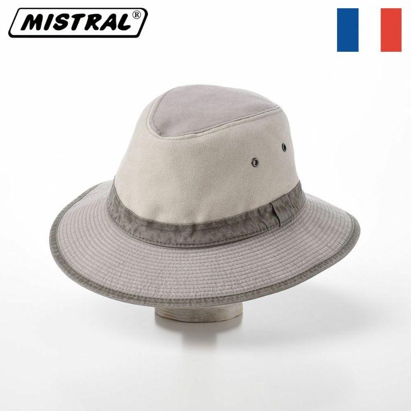 帽子 サファリハット Mistral(ミストラル) COTTON SAFARI HAT(コットン サファリ ハット)MI1601 ライトグレー