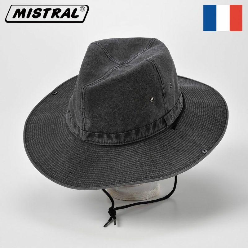 帽子 サファリハット Mistral(ミストラル) COTTON ADVENTURE HAT(コットン アドベンチャー ハット)MI1604 ブラック